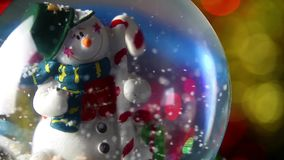 Snowman Sphere stock footage