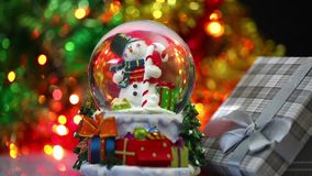 Snowman Sphere stock video