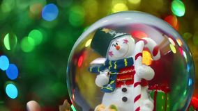 Snowman Sphere. Video very useful in valentines day birthday or new year concept stock footage
