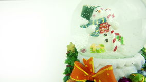 Snowman Sphere on  White Background stock video footage