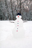 Snowman standing Royalty Free Stock Photography