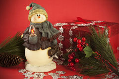 Snowman still life Royalty Free Stock Image