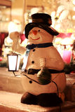 Snowman - street decorative light Stock Photography