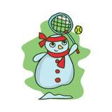 Snowman style character vector art Stock Photos
