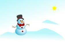 Snowman_sun Lizenzfreies Stockfoto