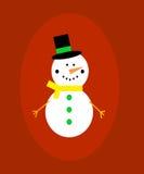snowman szczęśliwy Fotografia Stock