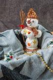 snowman szczęśliwy Zdjęcia Stock