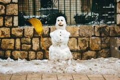 snowman szczęśliwy Obrazy Stock