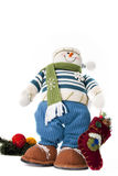 Snowman toy. With christmas ornaments Stock Illustration