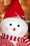Snowman toy for Christmas Royalty Free Stock Images