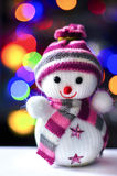 Snowman Toy Decoration. Snowman Toy Christmas Decoration Ornament Stock Photo