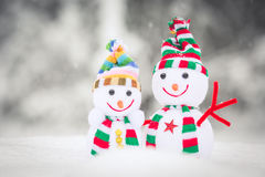 Snowman Toy Family Royalty Free Stock Photos