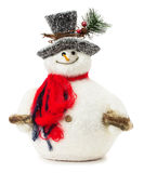 Snowman toy isolated on the white background Royalty Free Stock Image