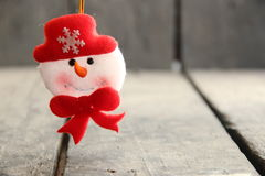 Snowman toy. New Year and winter background Stock Images