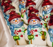 Snowman toy in shop Royalty Free Stock Photo