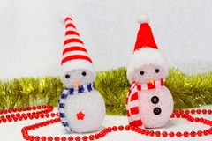 Snowman toy. On the white background Stock Image