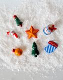 Snowman and toys Royalty Free Stock Image