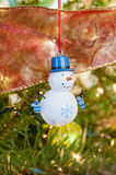 Snowman Tree Decoration Royalty Free Stock Images