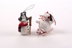 Snowman Tree Ornaments stock photos
