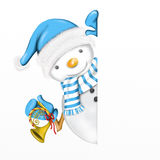 Snowman with trumpet Royalty Free Stock Photos