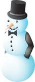 Snowman in a tuxedo Stock Photography