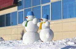 snowman två Arkivfoto