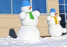 snowman två Arkivbilder