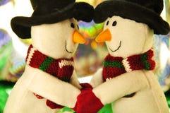 snowman two στοκ φωτογραφία