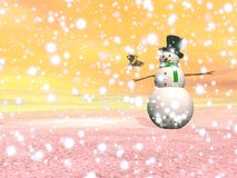 Snowman under the snow - 3D render Stock Image