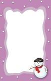 /Snowman van Kerstmis boder frame Royalty-vrije Stock Foto