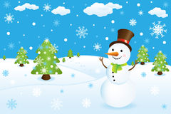 Snowman. Vector Stock Photography