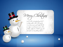 Snowman Vector Royalty Free Stock Photography
