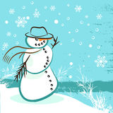 Snowman vector Royalty Free Stock Photo