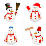 Snowman vector Royalty Free Stock Image