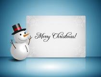 Snowman Vector Design Stock Image