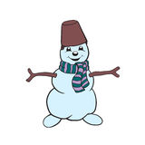Snowman. Vector drawing Stock Images