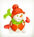 Snowman vector icon Royalty Free Stock Photo