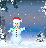 Snowman Vector Stock Image
