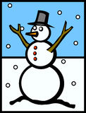 Snowman vector illustration Royalty Free Stock Image