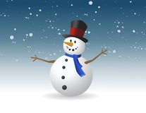 Snowman, vector illustration Royalty Free Stock Photography