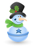 Snowman Vector Illustration Stock Images
