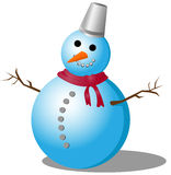 Snowman. Vector illustration winter eps10 Royalty Free Stock Photos