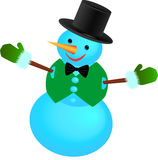 Snowman in a waistcoat with tie Royalty Free Stock Photos