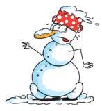 Snowman walking Stock Image
