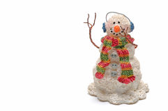 Snowman Waving Stock Photos