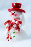 Snowman Waving Hand Royalty Free Stock Images