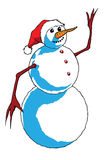 Snowman waving hands Royalty Free Stock Photos