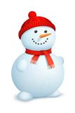 Snowman wearing scarf Stock Photos