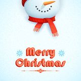 Snowman wearing scarf in Christmas Card Stock Photos