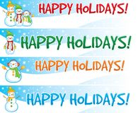 Snowman Web Banners Stock Photo